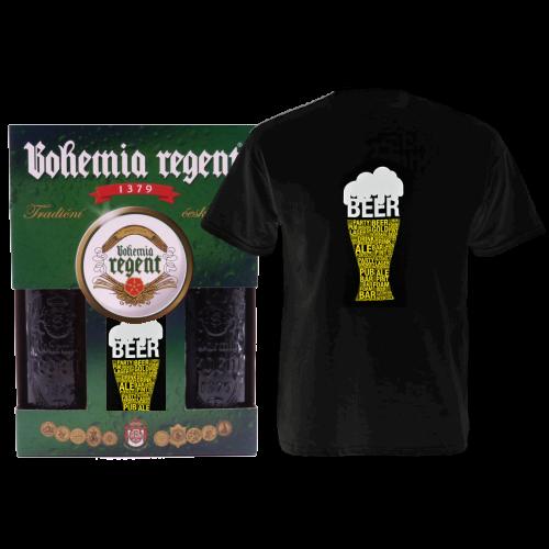 Dárkový set - 2 Piva Bohemia Regent + tričko Pivo