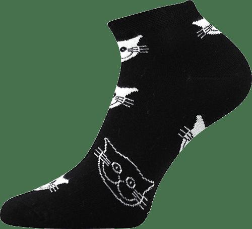 Ponožky - Mačky čierne - nízke main