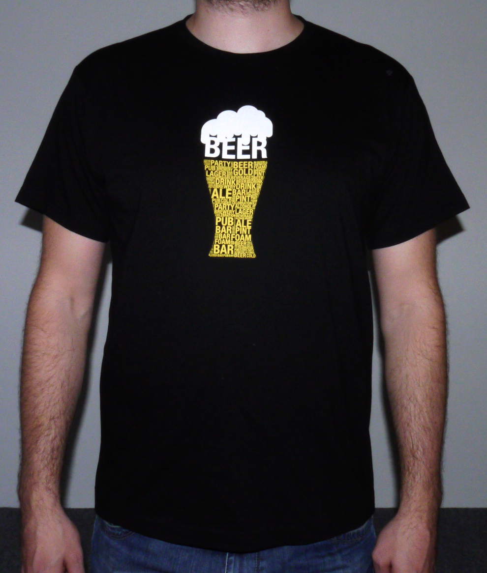 Tričko - Pivo - černé - velikost XXXL