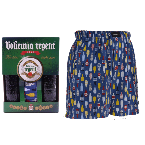 Dárkový set - 2 Piva Bohemia Regent + trenýrky Pivo Lahve