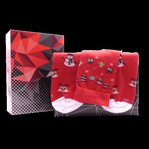 Dárkový set - 3 páry ponožek Vánoce
