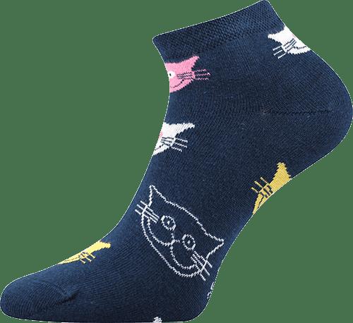 Ponožky - Mačka farebné  nízke