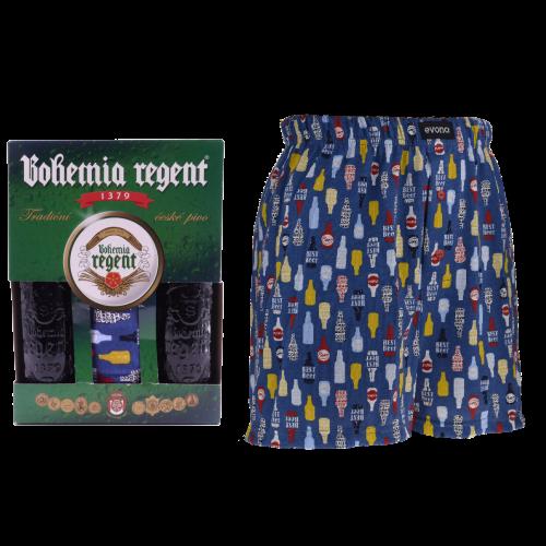 Dárkový set - 2 Piva Bohemia Regent + trenýrky Pivo Lahve - velikost XXXL