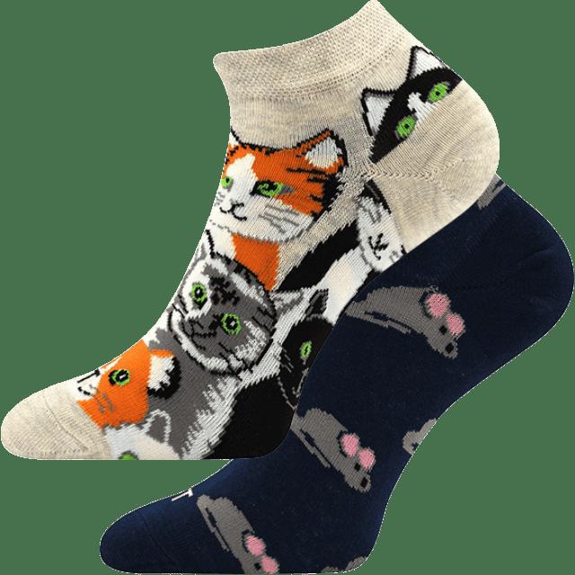 Ponožky - Mačka/myš nízke