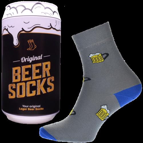 Ponožky - Pivo 2 v dárkové pivní plechovce