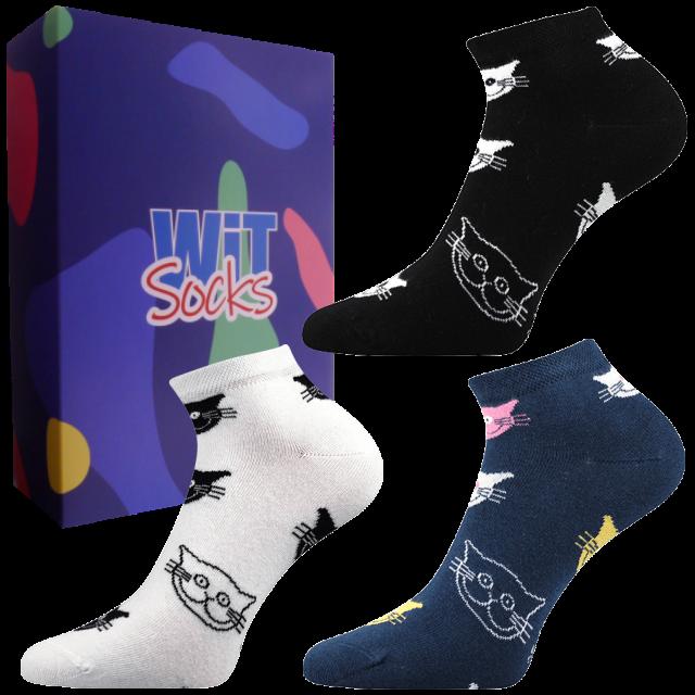 Set cadou - Șosete - Pisică - joase