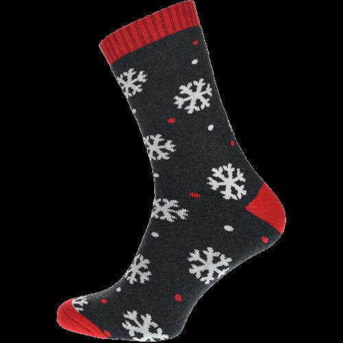 Ponožky termo - Vločky - sivé