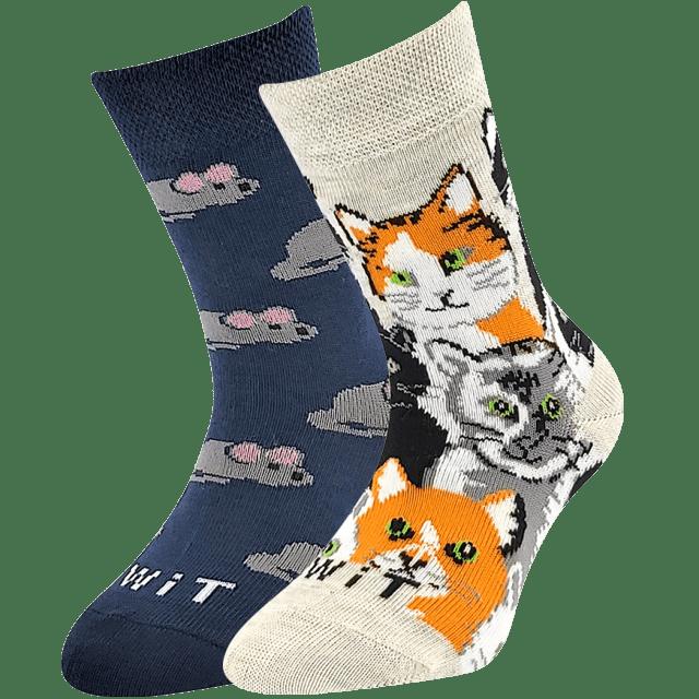 Detské ponožky Mačka/myš