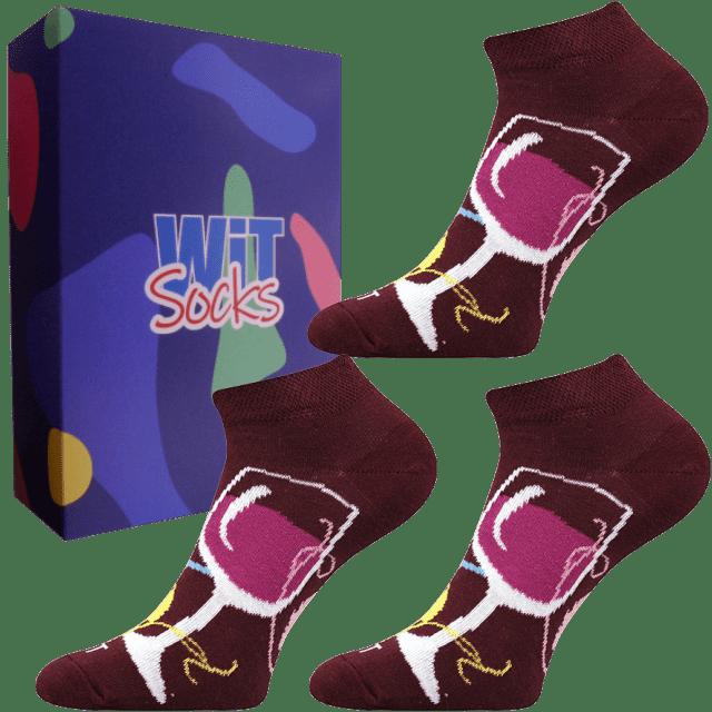 Darčekový set - Ponožky - Víno nízke