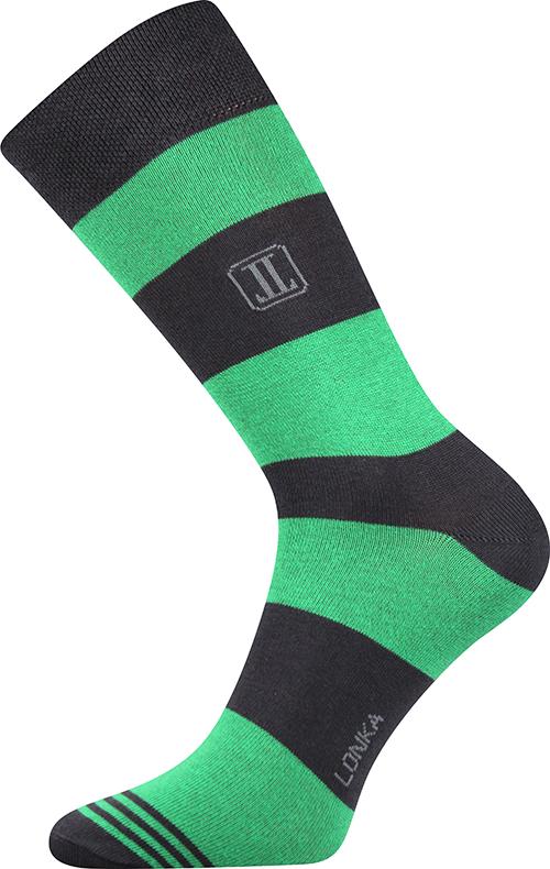 Ponožky - Crazy - Pruhy - zelená - velikost 39-42