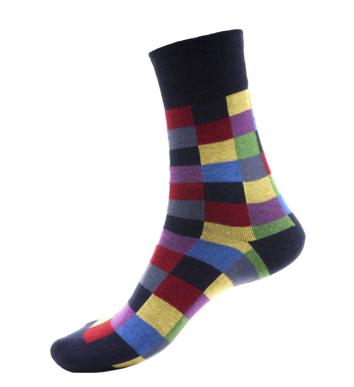 Ponožky - Crazy - Obdélníky - velikost 41-46