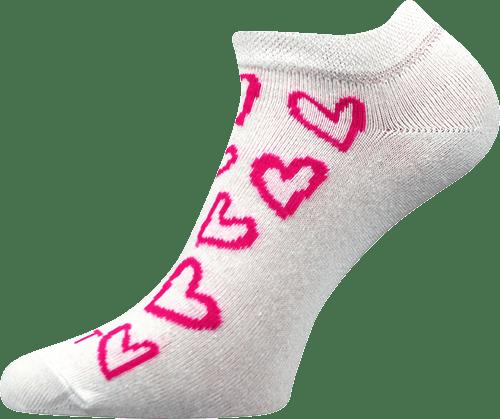 Ponožky - Srdíčka růžové