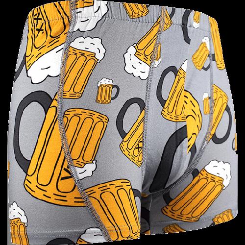 Boxerky pivo - světle šedé
