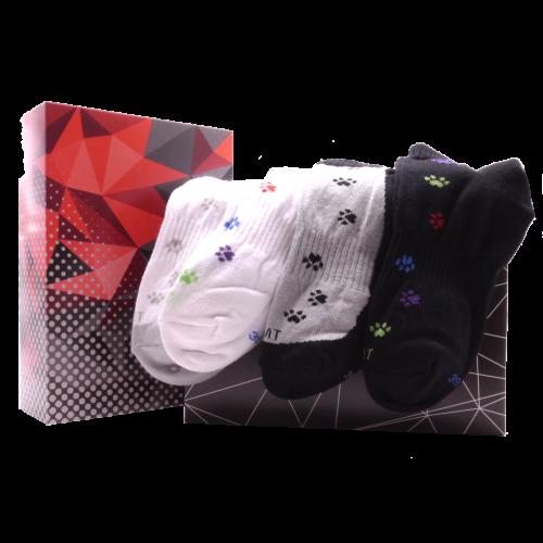 Dárkový set - 4 páry ponožek Tlapky