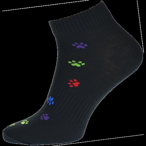Ponožky - Tlapka černobarevná nízké