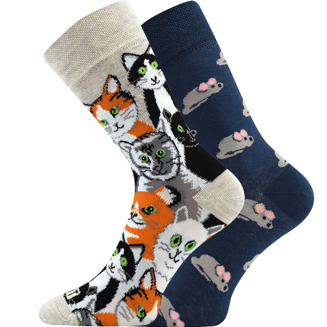 Ponožky - Mačka/myš main