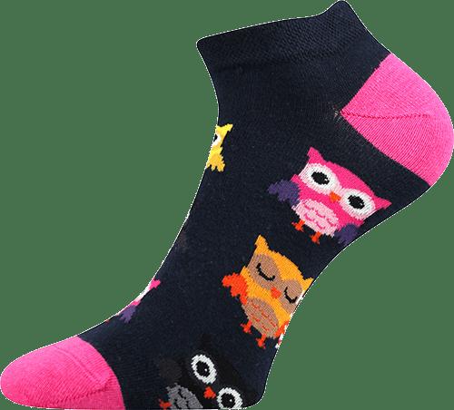 Socken - Eule - niedrig