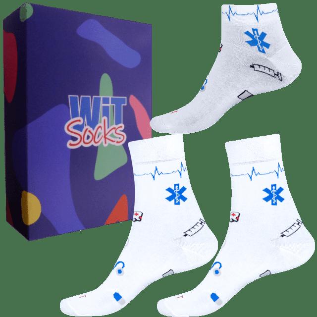 Dárkový set - Ponožky Zdravotnictví bílé mix