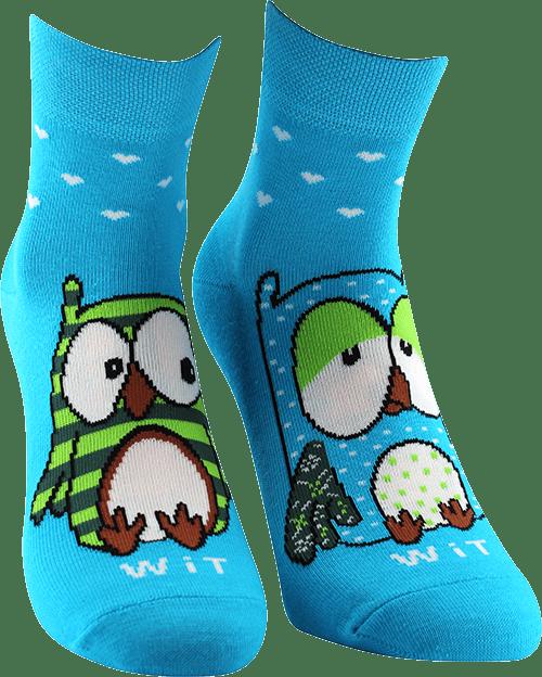 Ponožky - Sovy - tyrkysové
