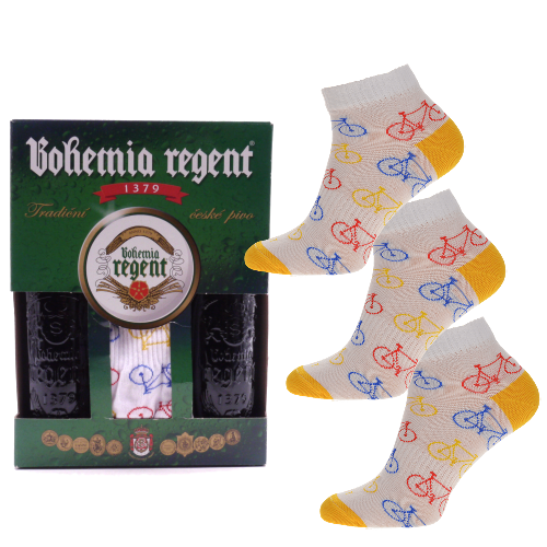 Dárkový set - 2 Piva Bohemia Regent + 3x Ponožky Kolo nízké