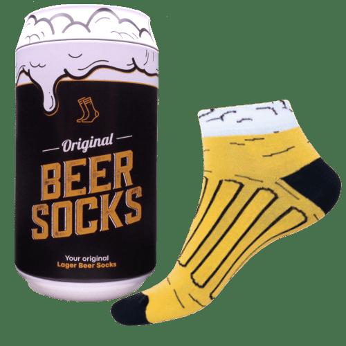 Ponožky - Pivo 14 v dárkové pivní plechovce