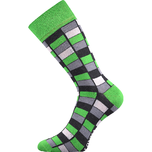 Ponožky - Mozaika - zelená