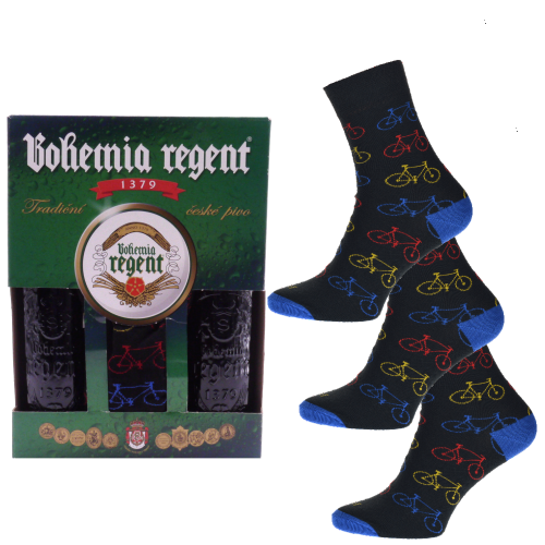 Dárkový set - 2 Piva Bohemia Regent + 3x Ponožky Kolo