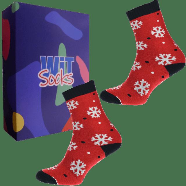 Set cadou - Șosete  termice - Fulg - roșu
