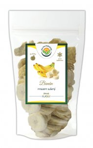 Banán plátky sušené mrazem - lyofilizované 160 g