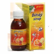 Dětský sirup s příchutí ovoce a vitam. C 130 g