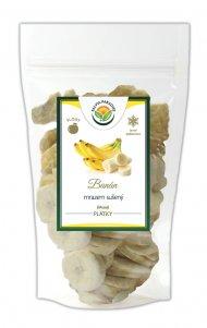 Banán plátky sušené mrazom - lyofilizovanej 350 g