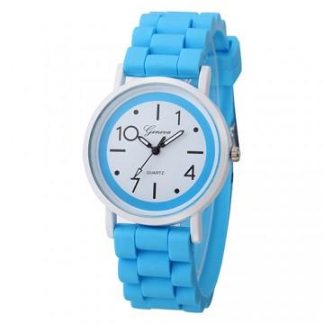 Silikonové hodinky Geneva Jelly modré