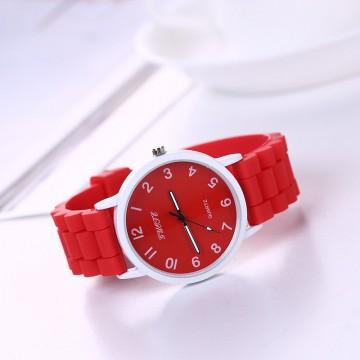 Silikonové hodinky Geneva Quote červené