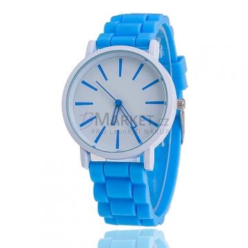 Silikonové hodinky modré