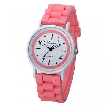 Silikonové hodinky Geneva Jelly růžové