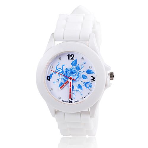 Silikonové hodinky Geneva Flowers 3