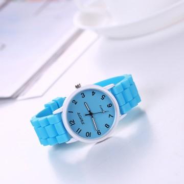 Silikonové hodinky Geneva Quote modré