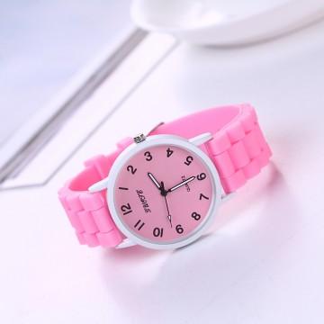 Silikonové hodinky Geneva Quote růžové