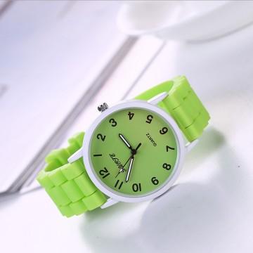 Silikonové hodinky Geneva Quote zelené
