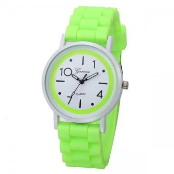 Silikonové hodinky Geneva Jelly zelené
