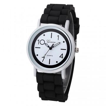 Silikonové hodinky Geneva Jelly černé