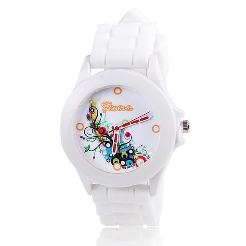 Silikonové hodinky Geneva Flowers 4
