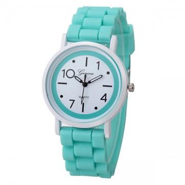 Silikonové hodinky Geneva Jelly mátově zelené