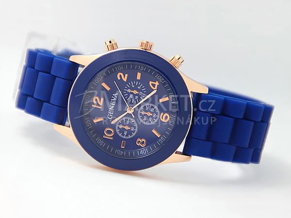 Silikonové hodinky Geneva tmavě modré