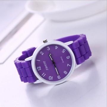 Silikonové hodinky Geneva Quote fialové
