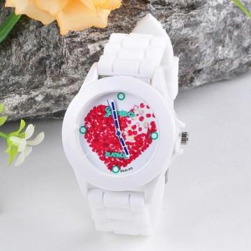 Silikonové hodinky Geneva Flowers 6