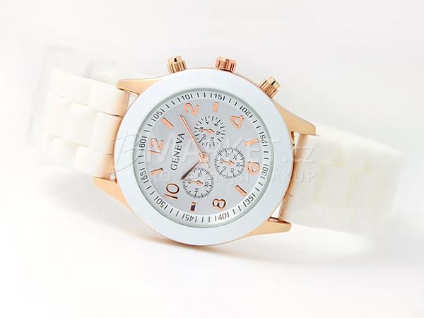 Silikonové hodinky Geneva bílé