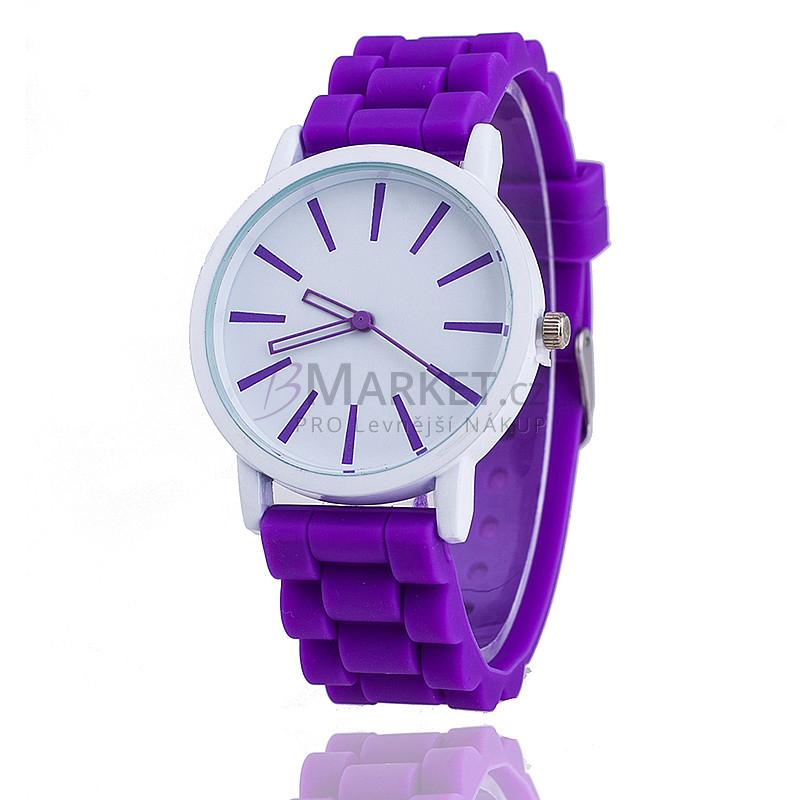 Silikonové hodinky fialové