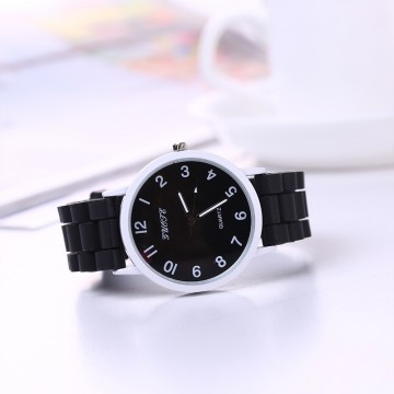 Silikonové hodinky Geneva Quote černé