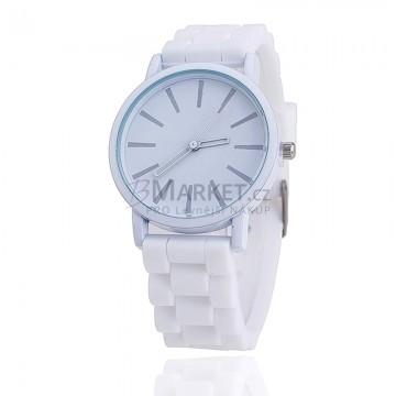 Silikonové hodinky bílé